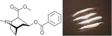 Fórmula da cocaína e droga
