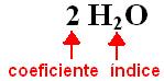 Coeficiente e índice da molécula de água