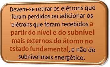 Regra para distribuição eletrônica de íons