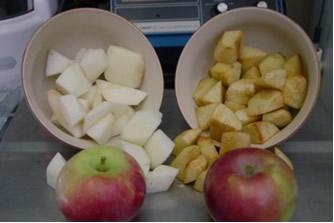 Sem a adição de vitamina C, ocorre um escurecimento rápido da fruta