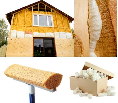 Espuma de poliuretano sendo usada como isolante térmico e em outros produtos
