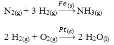 Exemplos de reações de catálise heterogênea