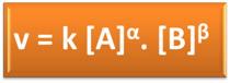 Fórmula da lei da velocidade das reações químicas