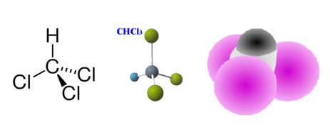 Fórmulas do clorofórmio – triclorometano