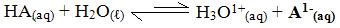 Ionização de um ácido genérico