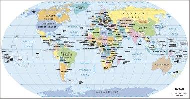Tipos de mapas Classificao e tipos de mapas  Mundo Educao