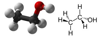 Fórmulas da molécula de etanol