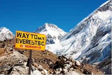 Monte Everest, na Cordilheira do Himalaia, na Ásia