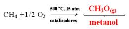 Obtenção do metanol pela oxidação do metano