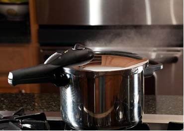 A panela de pressão acelera o cozimento dos alimentos