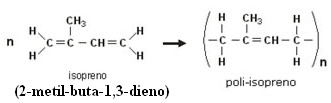 A borracha é um poli-isopreno