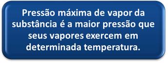 Definição de pressão máxima de vapor