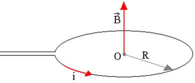 Através da regra da mão direita podemos ver que o vetor B está na vertical