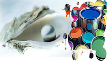 As pérolas e as conchas são constituídas, principalmente, de um sal; e as tintas, de óxidos