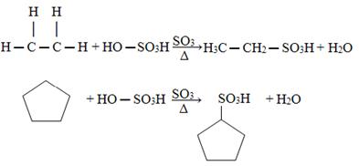 Reações de sulfonação
