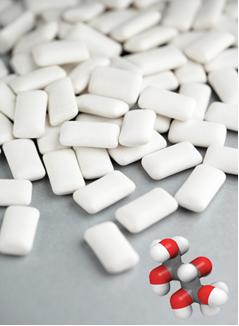 O xilitol é usado em balas e chicletes