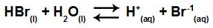 Equação de ionização do HBr