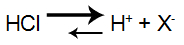 Equação de ionização do ácido HCl