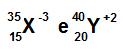 Exemplos de átomos isoeletrônicos
