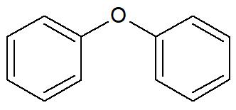 Fórmula estrutural de um aromático isolado por um elemento químico
