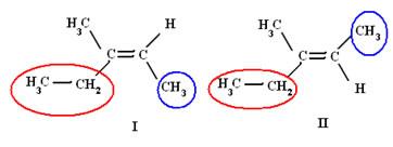 Isômeros do 3- metilpent –2–eno