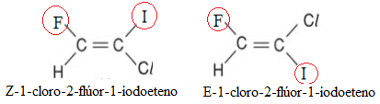 Isômeros E-Z do 1-cloro-2-flúor-1-iodoeteno