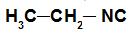 Exemplo da fórmula estrutural de um isonitrilo
