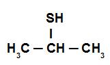 Fórmula estrutural do Isopropil-mercaptan