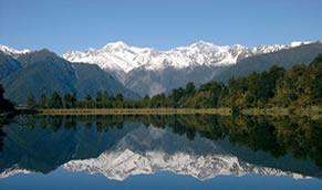 Reflexão na superfície de um lago