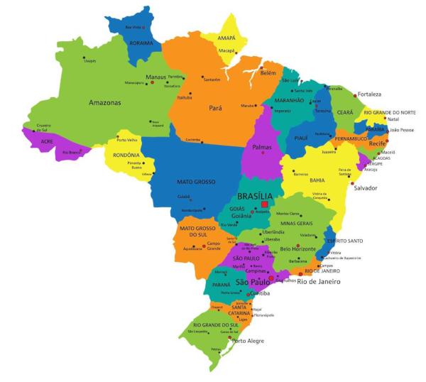 Rio Grande Mapa Fisico.Mapa Do Brasil Confira Os Mais Completos E Atualizados
