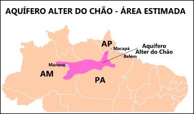 Mapa de localização do Aquífero Alter do Chão