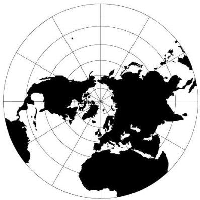 Mapa construído com pontos de tangência