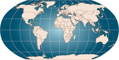Os principais paralelos e meridianos do planeta