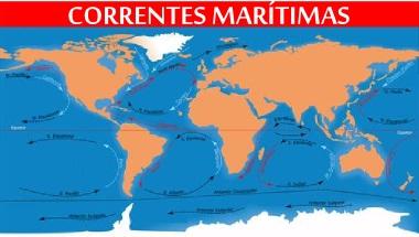 Mapa demonstrativo das principais correntes oceânicas da Terra