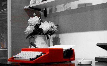 A máquina de escrever, companhia inseparável de Caio, tinha nome: Virginia Woolf. Imagem gentilmente cedida por Márcia de Abreu Jacintho