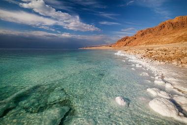 Paisagem do mar morto, no Oriente Médio