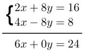 Método da adição, exemplo 1