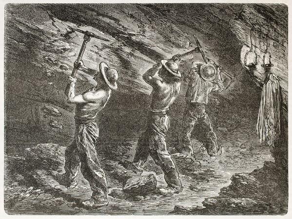 As minas de carvão foram muito importantes para o desenvolvimento da Revolução Industrial na Inglaterra.