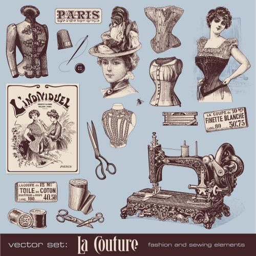 Propaganda de uma fábrica de roupas da moda parisiense da Belle Époque