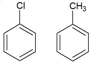 Exemplos de aromáticos mononucleares
