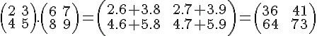 Multiplicando da Matriz A e B