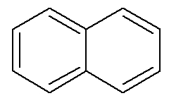 Fórmula estrutural do naftaleno