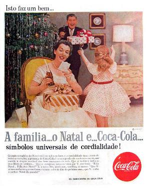 Publicidade da Coca-Cola durante o Natal de 1957