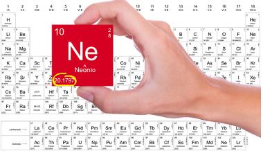 Massa atômica do neônio