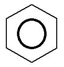 Fórmula estrutural do benzênico com o anel