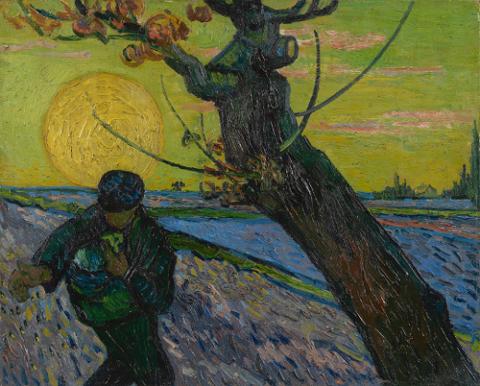 The sower (O semeador), Vincent Van Gogh, 1888. Em exposição no Museu Van Gogh, em Amsterdã, Holanda