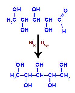 Equação da obtenção do xilitol a partir da xilose