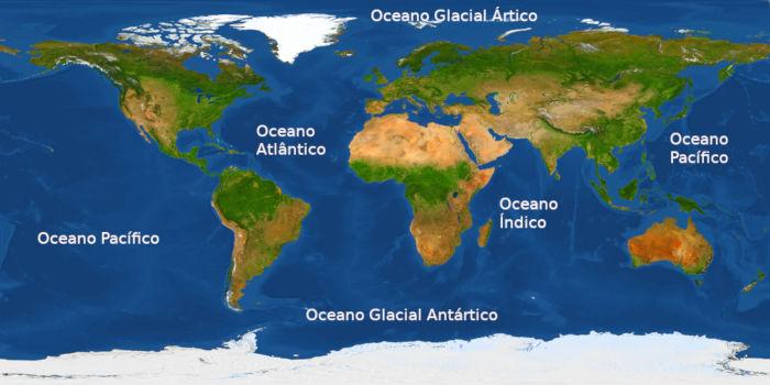 Algumas classificações consideram que há, no planeta, cinco oceanos.