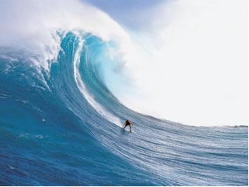 """Surfista """"pegando uma onda"""""""