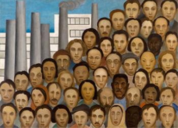Operários, 1933, óleo sobre tela, 150x205 cm, (P122). Tarsila do Amaral